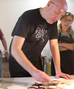Massimo Polello the Master Calligrapher from Torino will be the TEC tutor for the Leonardo Workshop
