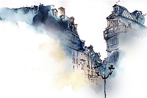 The 2019 explorations in watercolour course will explore both tradtional as well as modern techniques